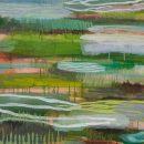 Almagre und das Grün der Insel#5_Pigmente La Gomera  / Acryl auf Papier / auf Alu / 97x67 / 2013
